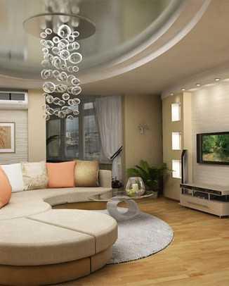 Интерьеры гостиной комнаты