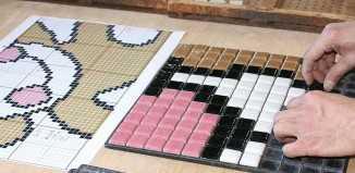 Мозаичная напольная плитка