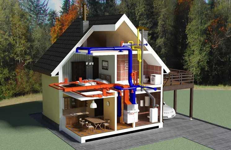 Проектирование системы отопления коттеджа