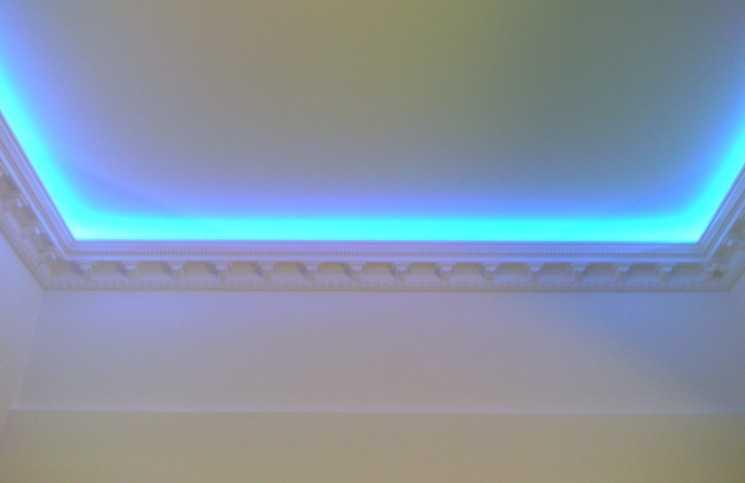 Варианты покраски потолка